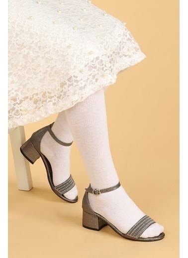 Kiko Kids Kiko 768 Ayna Kum Günlük Kız Çocuk 3 Cm Topuk Sandalet Ayakkabı Gri